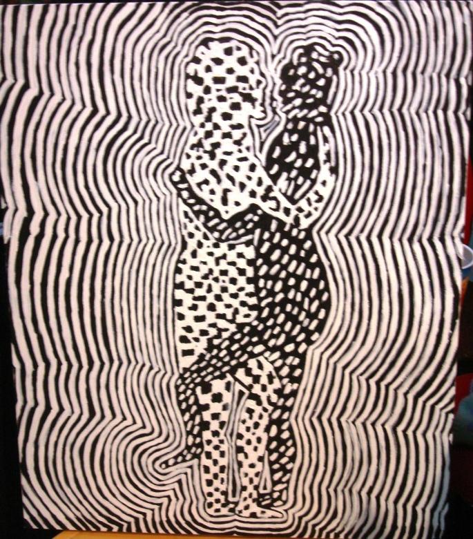 "Joti. ""Together"" 2009 Acrylic on canvas. 30 x 40 cm."