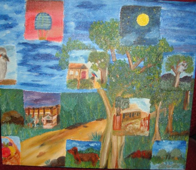 "Joti. ""Logan"" 2002 Acrylic on canvas 40 x 40 cm"