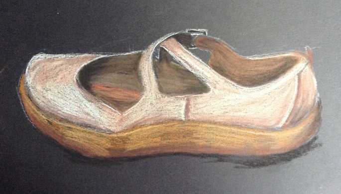 Old White Shoe, soft pastels. 2016. © Anndelize