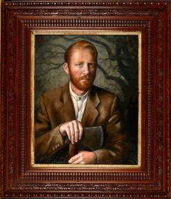 Klara Jones. RRH woodcutter, oil on canvas board, old oak frame